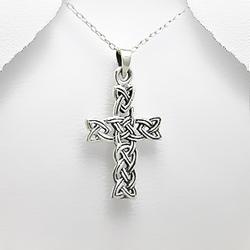 Pendentif Croix en Argent Celtique