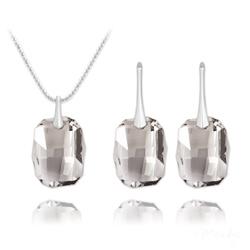 Parure Graphic en Argent et Cristal Silver Shade