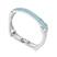 Bracelet Plaqu� Or Blanc et Cristal Bleu