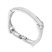 Bracelet Plaqu� Or Blanc et Cristal Blanc