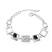 Bracelet Design Carr� Plaqu� Or Blanc et Cristal
