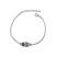 Bracelet T�te de Mort Plaqu� Or Blanc et Cristal Noir