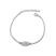 Bracelet T�te de Mort Plaqu� Or Blanc et Cristal Multicolore