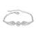 Bracelet Aile d'Ange Plaqu� Or Blanc et Cristal Blanc