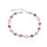 Bracelet Plaqu� Or Blanc et Cristal Multicolore Ton Rose
