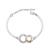 Bracelet Plaqu� Or Blanc et Cercle Champagne