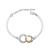 Bracelet Plaqu� Or Blanc et Cercle