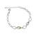 Bracelet 2 Gouttes Plaqu� Or Blanc et Cristal