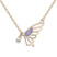 Collier Papillon Plaqu� Or Rose et Cristal Violet