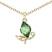 Collier Papillon Plaqu� Or Rose et Cristal Vert