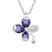Collier Tr�fle Plaqu� Or Blanc et Cristal Violet