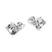 Boucles d'Oreilles Cube 6mm en Argent et Cristal SWAROVSKI ELEMENTS Blanc