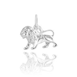 Pendentif Signe du Zodiaque Lion en Argent