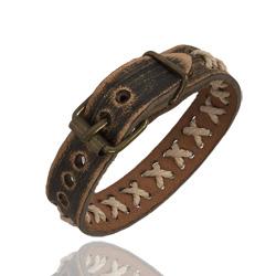Bracelet Vintage en Cuir et Corde