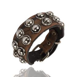 Bracelet en Cuir Clouté