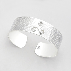 Bracelet Manchette Celtique en Argent Martelé