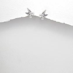 Boucles d'Oreilles Colibri en Argent