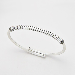 Bracelet Jonc Design en Argent