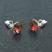 [Red Magma - 8mm] Boucles d'Oreilles en Argent et Cristal