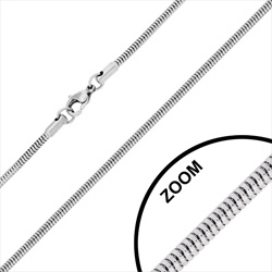 Chaîne en Acier Maille Serpent 2.4mm / 50 cm