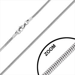 Chaîne en Acier Maille Serpent 2.4mm / 60 cm