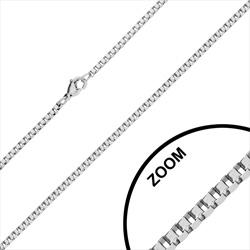 Chaîne en Acier Maille Vénitienne 1.5mm / 70cm