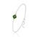 [Fern Green] Bracelet en Argent et Perle de Cristal 8MM