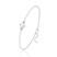 [Crystal White AB] Bracelet en Argent et Perle de Cristal 8MM