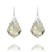 Boucles d'Oreilles �clair Baroque en Argent et Cristal Silver Shade