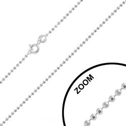 Chaîne en Argent Maille Boule 1.4mm / 42cm