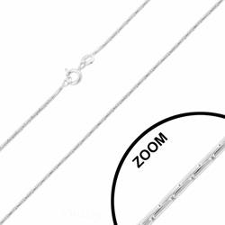 Chaîne en Argent Maille Paloma 1.3mm / 42cm