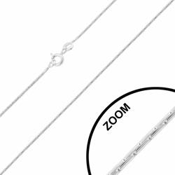 Chaîne en Argent Maille Paloma 1mm / 42cm