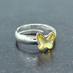 Wholesale Butterfly 8mm Silver Ring with Swarovski Crystal - Jonquil