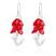 Boucles d'Oreilles Cosmic Grapes en Argent et Cristal Rouge Light Siam