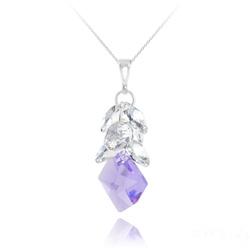 Sautoir Cosmic Grapes en Argent et Cristal Violet