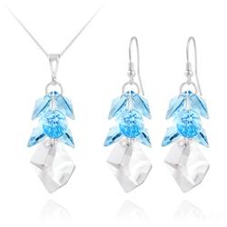 Parure Cosmic Grapes en Argent et Cristal  Bleu