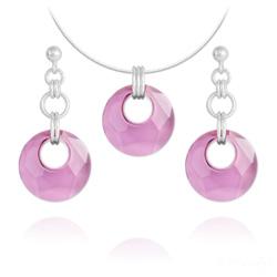 Parure Victory en Argent et Cristal Antique Pink