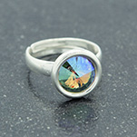 Wholesale Rivoli 8mm Silver Ring with Swarovski Crystal - Paradise Shine