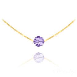Collier Ras de Cou Perle 8mm en Vermeil et Cristal Tanzanite