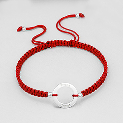 Bracelet en Argent 'Friends' Rouge
