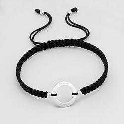Bracelet en Argent 'Friends' Noir