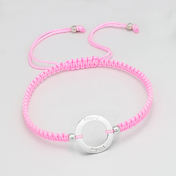 Bracelet en Argent 'Friends' Rose