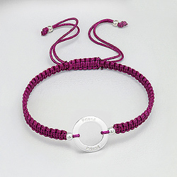 Bracelet en Argent 'Friends' Ruby