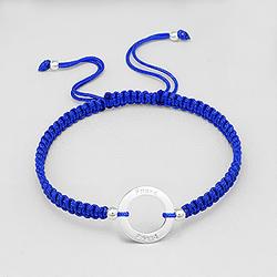 Bracelet en Argent 'Friends' Bleu Capri