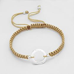 Bracelet en Argent 'Friends' Doré