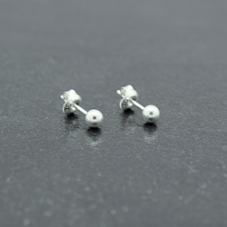 Clous d'Oreilles Perle d'Argent 4mm