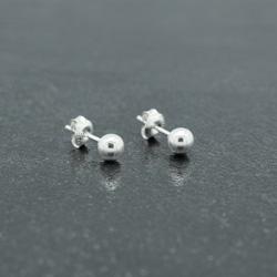 Clous d'Oreilles Perle d'Argent 5mm