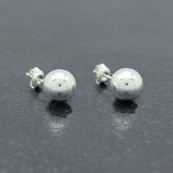 Clous d'Oreilles Perle d'Argent 10mm