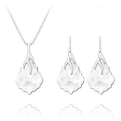 Parure Éclair Baroque en Argent et Cristal Blanc