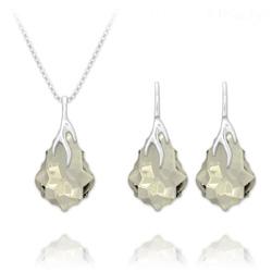 Parure Éclair Baroque en Argent et Cristal Silver Shade